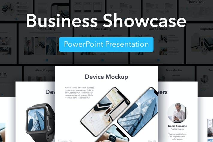 Thumbnail for Business Showcase PowerPoint Template
