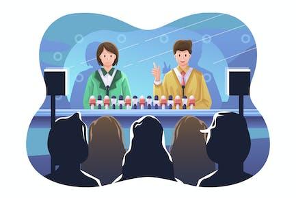 Pressekonferenz Illustration