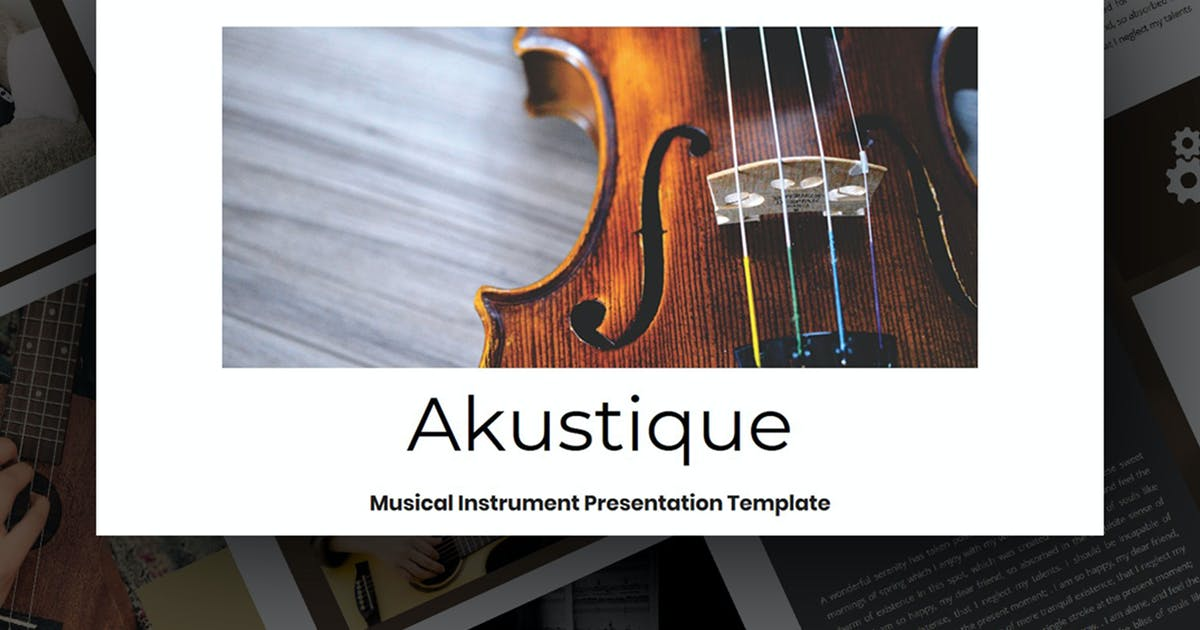Download Akustiq – Musical Keynote Template by raseuki