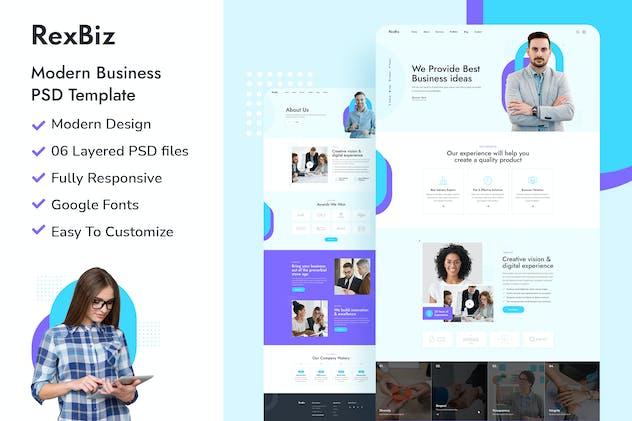Rexbiz - Corporate PSD Template