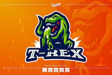 T-Rex Mascot Logo Template