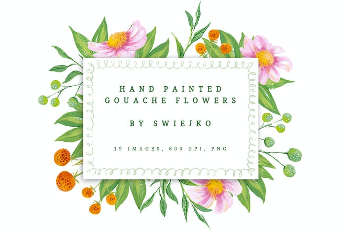 Thumbnail for Romantic Gouache Flowers