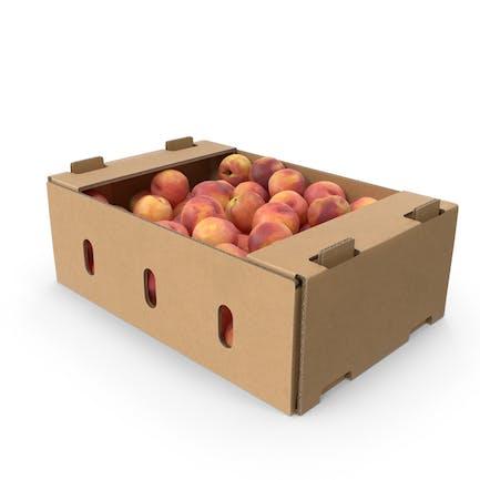 Cardboard Box With Peaches