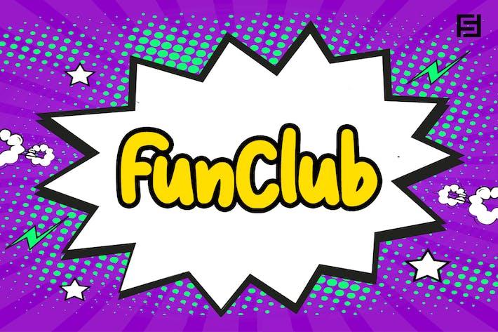 Thumbnail for FunClub - Fuente encantadora y juguetona para niños escrita a mano