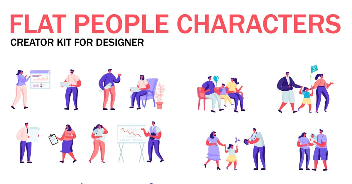Download Flat People Character Creator Kit by alexdndz
