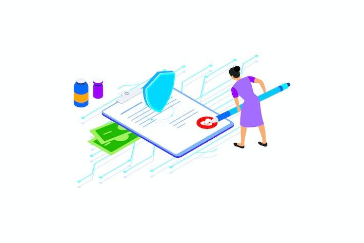 Thumbnail for Smart Contract on Blockchain Isometric 1 - TU
