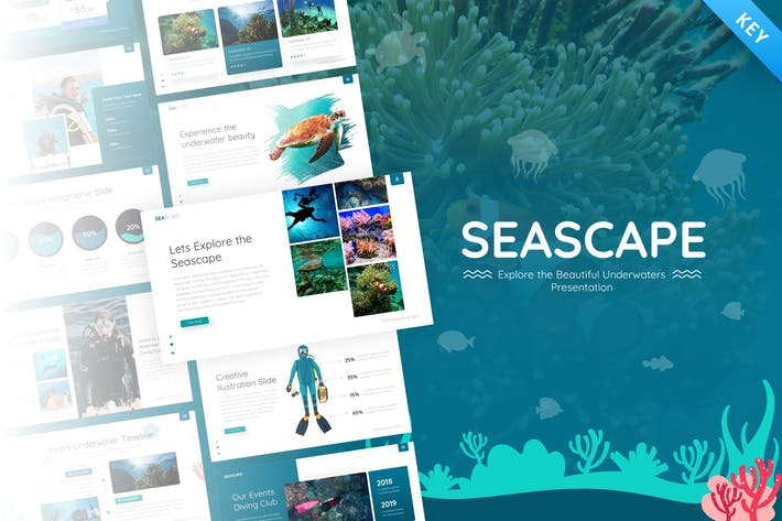 Thumbnail for Seascape Travel & Nature Keynote Template