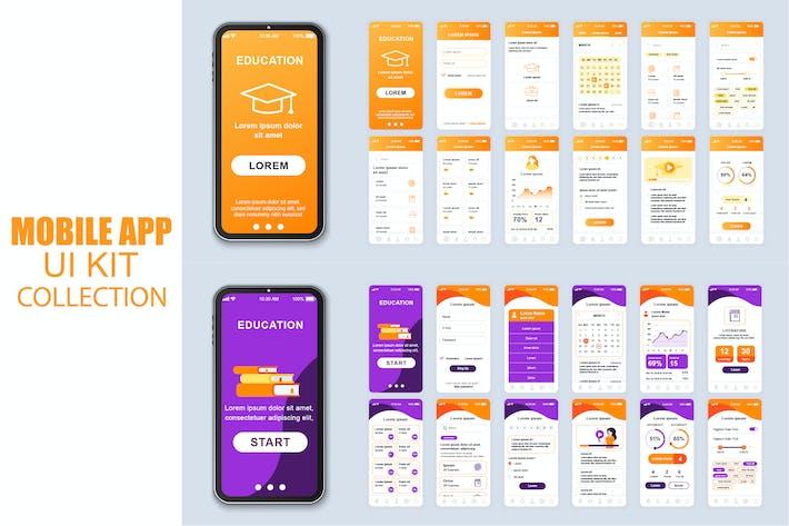 Thumbnail for Большая Коллекция Образование Мобильное Приложение Ui Kit Экран