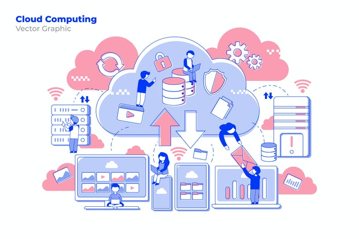 Thumbnail for Cloud Computing - Vector Illustration