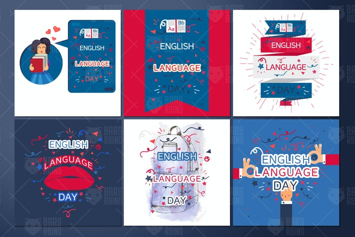 Thumbnail for English Language Day Banners
