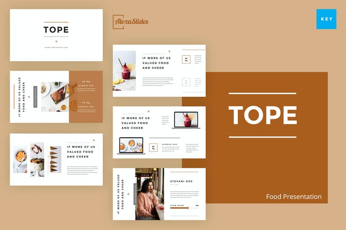 Thumbnail for Tope - Food Keynote Template