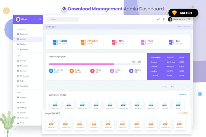 Thumbnail for Downloads Management Admin Dashbaord UI (SKETCH)