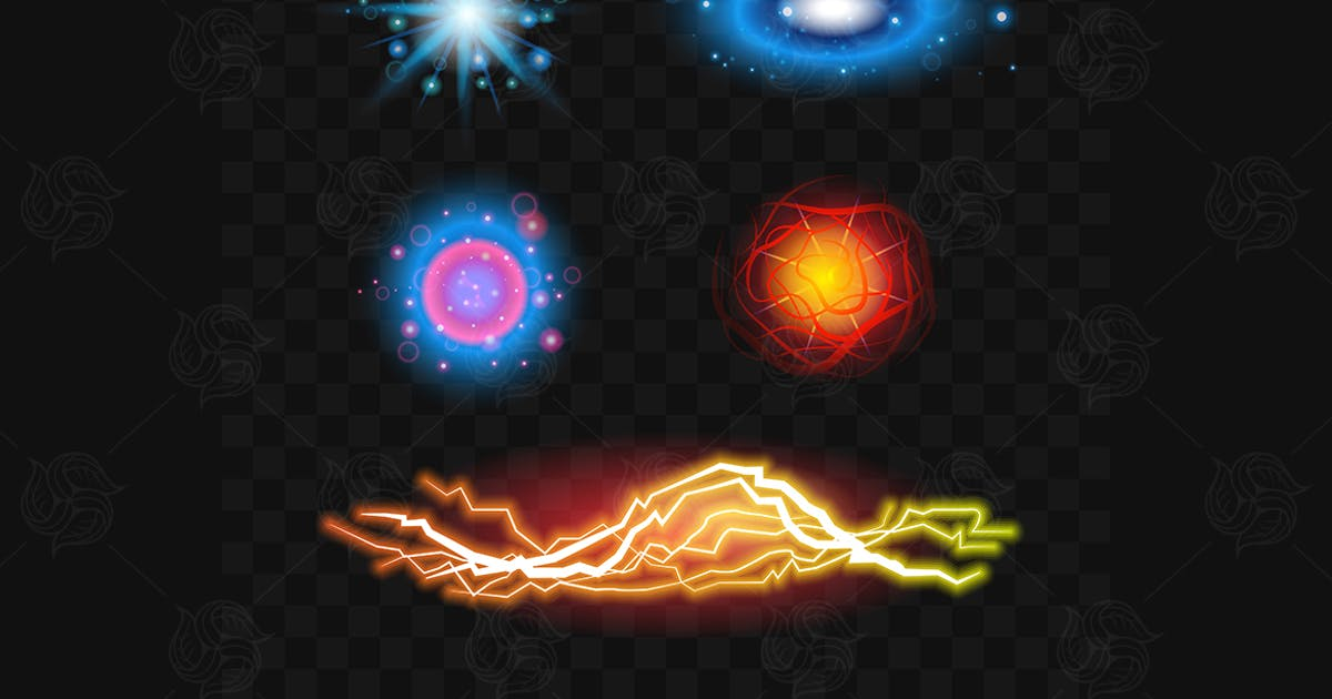 Download Light Effects - set of realistic vector clip art by BoykoPictures