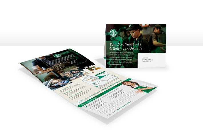 Cover Image For Direct Mail Smart Object Mock-Up PSD