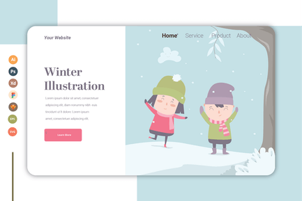 Winter vol.2 - Landing Page Template