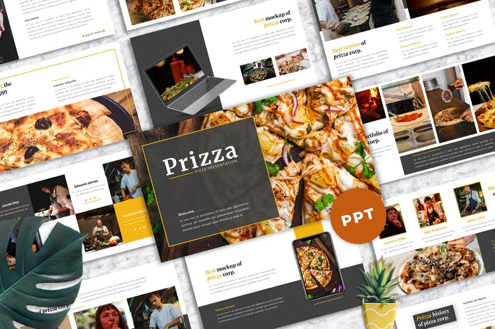 Thumbnail for Prizza – Pizza & Beverage PowerPoint Template
