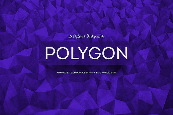 Thumbnail for Grunge Polygon Abstract Backgrounds