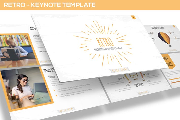 Thumbnail for Retro - Keynote Template