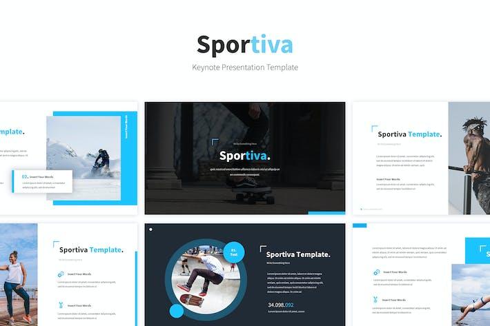 Thumbnail for Sportiva Keynote Template