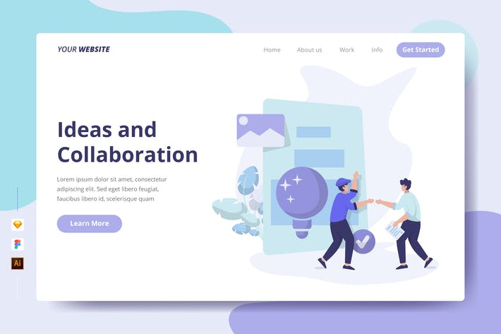 Thumbnail for Ideas and Collaboration - Landing Page