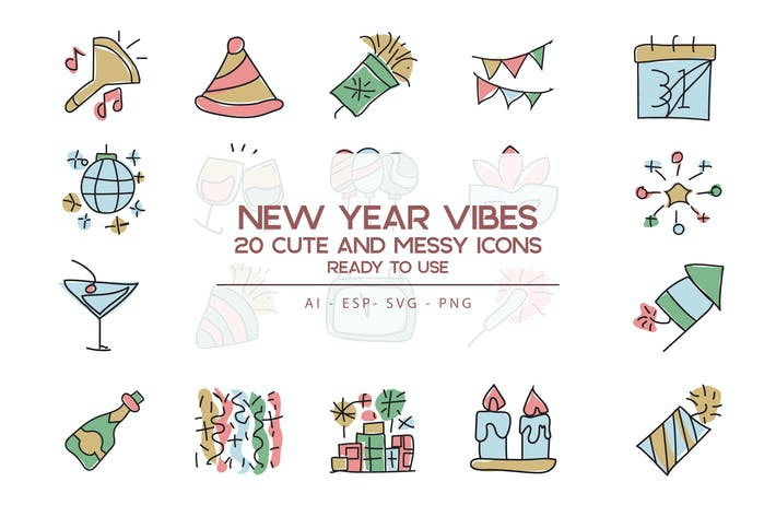Thumbnail for New Year vibes Icons