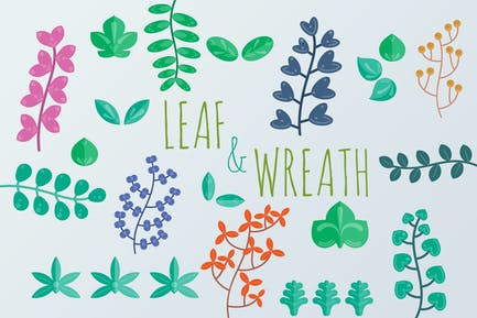 Leaf and Wreath