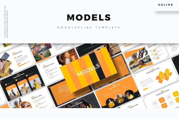Thumbnail for Модели - Шаблон слайдов Google