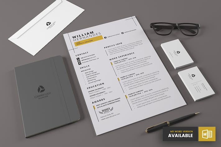 Thumbnail for Minimal Resume Template v.6