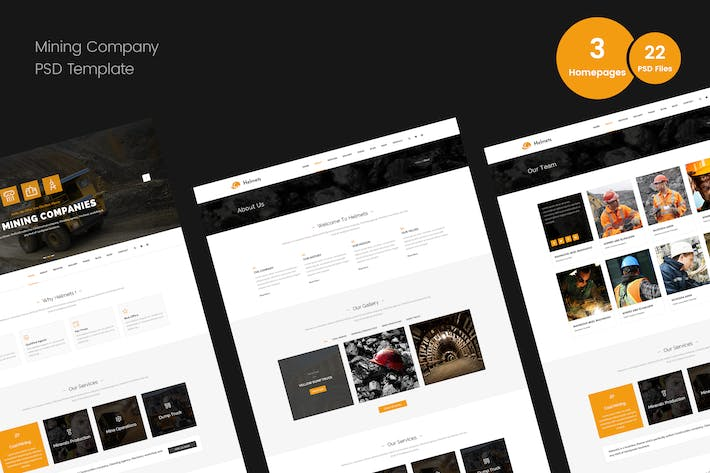 Cover Image For Mining PSD Template