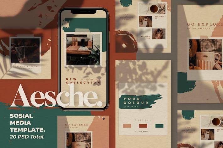 Thumbnail for Aesche - Social Media Templates