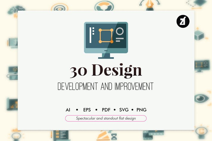 Thumbnail for 30 Design development in flat design
