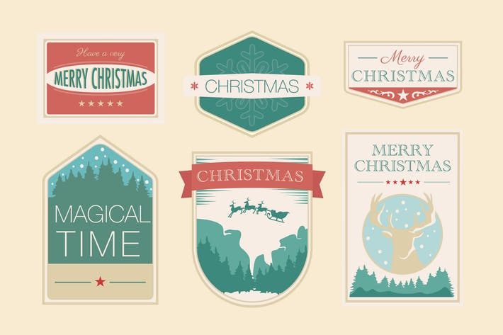 Cover Image For Vintage Christmas Badges