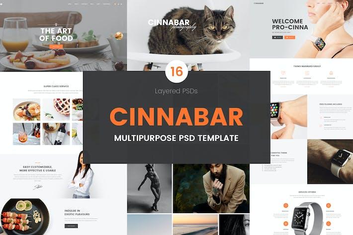 Thumbnail for Cinnabar-Multipurpose PSD Template