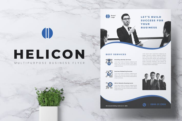 Thumbnail for HELICON Professional Corporate Business Flyer