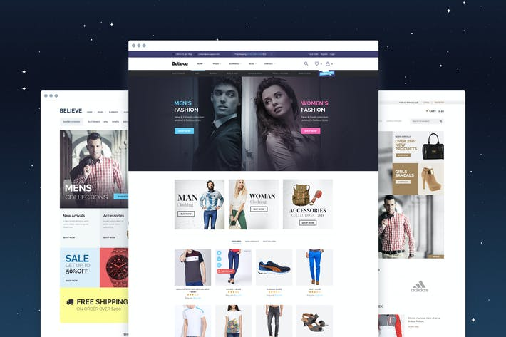 Thumbnail for Believe - eCommerce PSD Template