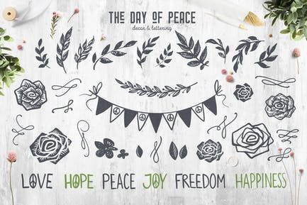 The Day of Peace // Decor & Lettering