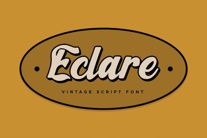 Eclare - Fuente de escritura vintage