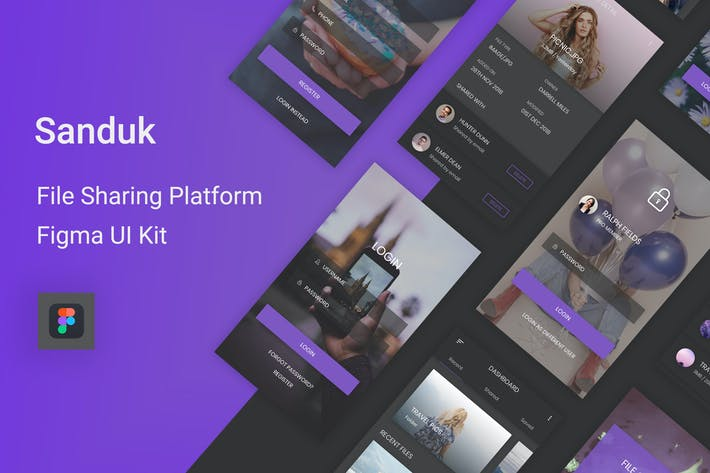 Thumbnail for Sanduk - File Sharing Platform UI Kit for Figma
