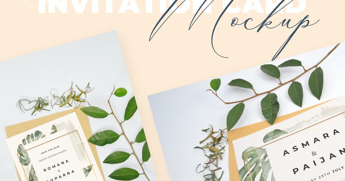 Download Beautiful Realistic Wedding Invitation Mockup V4 by afahmy