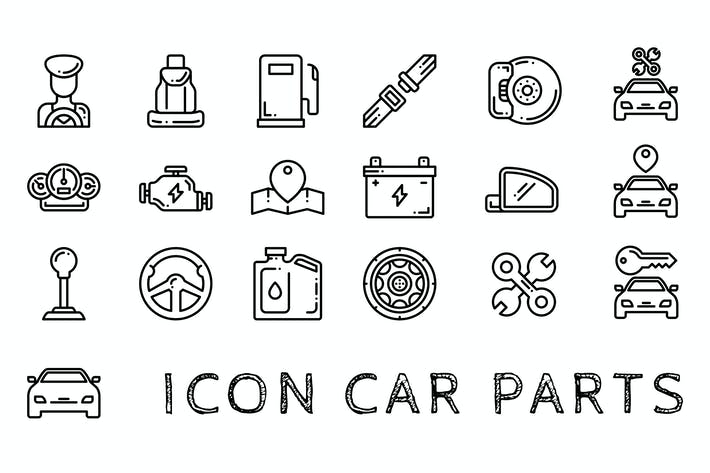 Thumbnail for Car Parts Icon