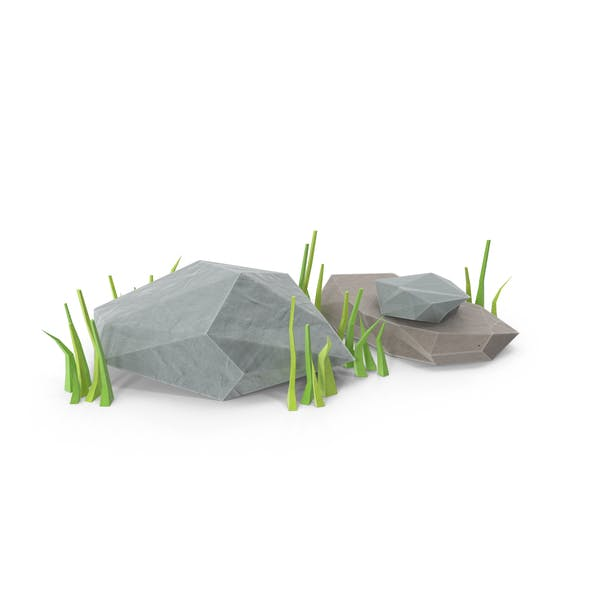Thumbnail for Low Poly Felsen mit Gras