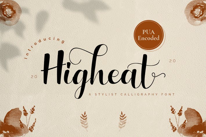 Thumbnail for Highheat - Stylish Calligraphy Font