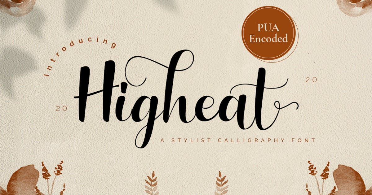 Download Highheat - Stylish Calligraphy Font by CocoTemplates