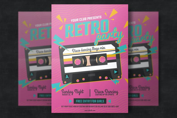 Thumbnail for Retro Music Poster Template