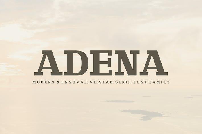 Thumbnail for Adena Slab Con serifa Familia tipográfica
