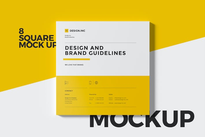 Thumbnail for Square Brochure Mockup