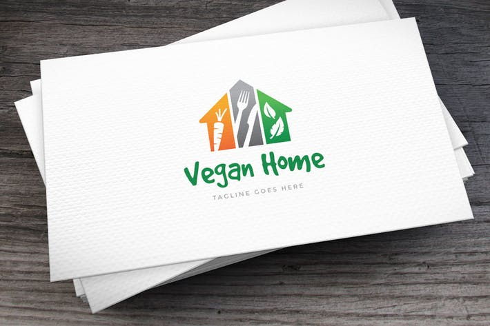 Thumbnail for Vegan Home Logo Template