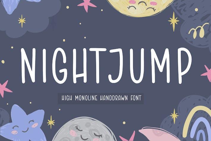 Nightjump Fuente de escritura a mano YH