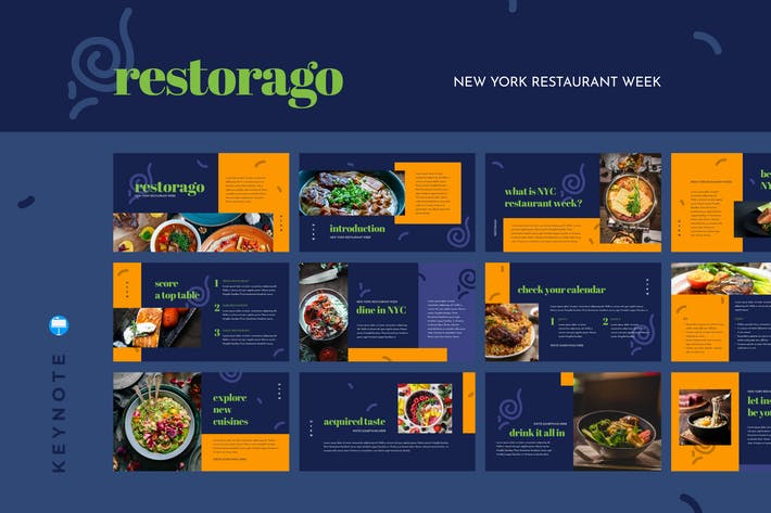 Thumbnail for RESTORAGO - New York Restaurant Week Keynote Templ