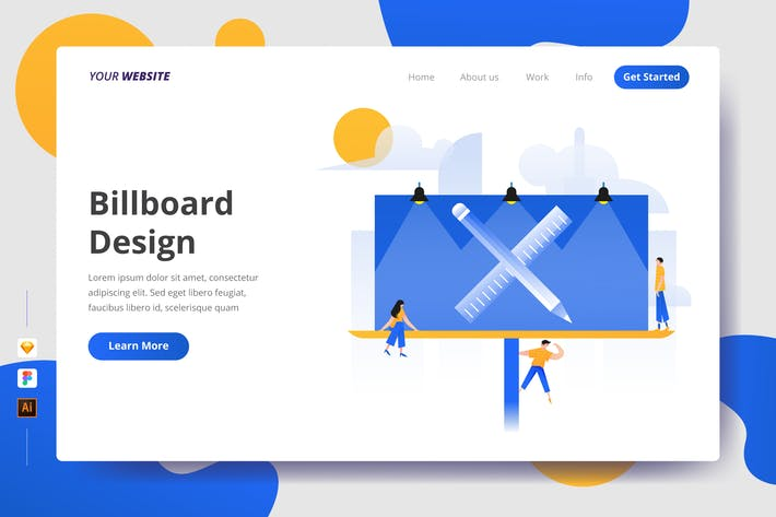 Thumbnail for Billboard Design - Landing Page